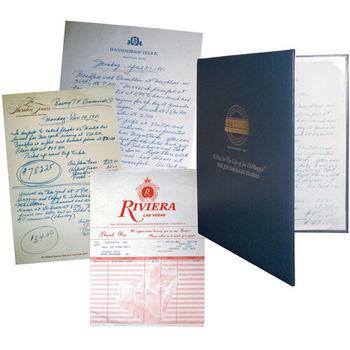 Joe DiMaggio Handwritten Diary Page w/ Padded Display Book - Steiner COA