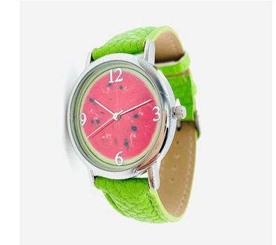 Avon Women's Signature Collection Round Summer Quencher Watermelon Wristwatch