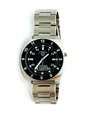Swiss Tradition Men's Stainless Steel Fashion Atomic Wrist Watch