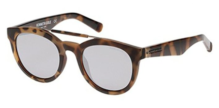 Kenneth Cole New York KC7205/S-53C Oval Blonde Havana/Smoke Mirror Sunglasses