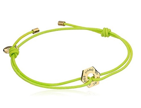 Marc By Marc Jacobs Bolt Friendship Stretch Bracelet - Safety Yellow