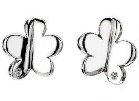 Hot Diamonds Sterling Silver & Diamond Echo Flower Stud Earrings - DE246