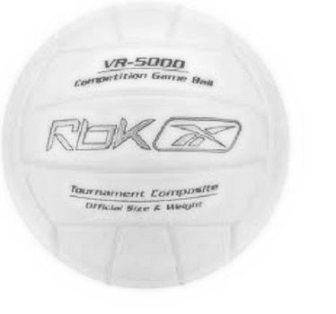 Reebok NFHS VR-5000 White Tournament Competition Game Ball Volleyball
