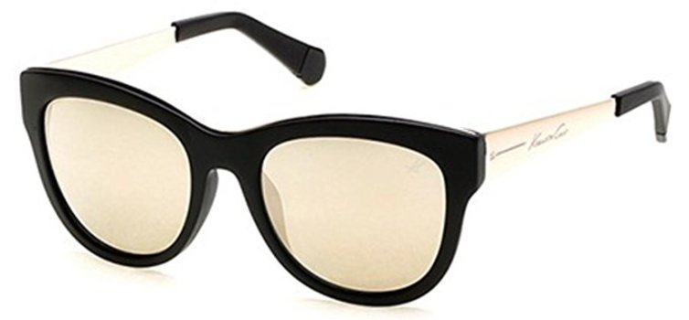 Kenneth Cole New York KC7195/S-02C Matte Black/Gold Mirror Sunglasses