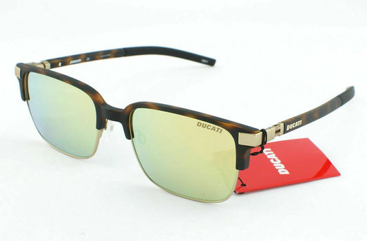 Ducati 5004 400 Tortoise Frame Brown/Gold Lenses Unisex Sunglasses