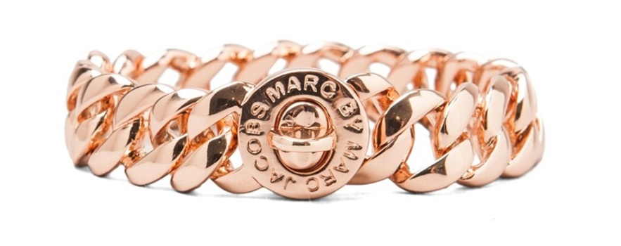 Marc By Marc Jacobs Goldtone Bracelet with Small Katie Turnlock