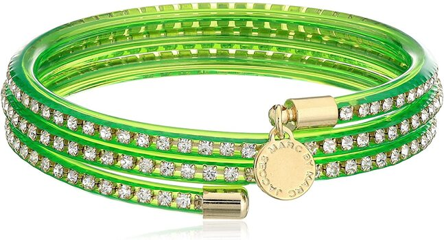 Marc By Marc Jacobs Slinky Green Toucan Zirconia Bracelet