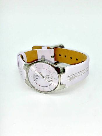 Swiss Tradition Ladies Quartz Round Light Purple Genuine Leather Wrist Watch