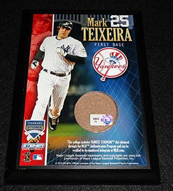 """Mark Teixeira - New York Yankees -  4"""" x 6"""" Plaque with Certified Authentic Field Dirt"""