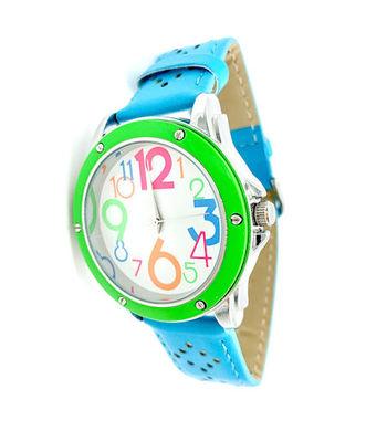 Avon Women's Signature Collection Round Flirty Chic Blue Wristwatch (F4035491)
