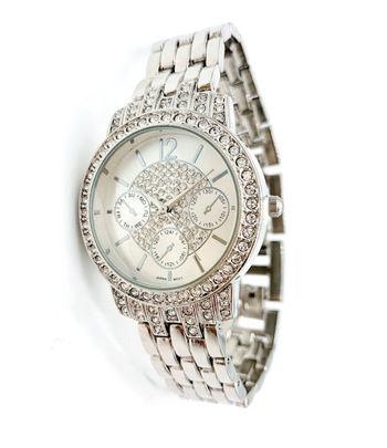 Avon Women's Signature Collection Round Pave Crystals by Swarovski Wristwatch - F3982881