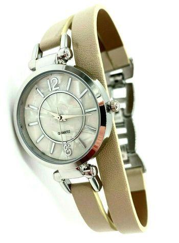 Avon Women's Signature Collection Round Paxton Wrap Beige Wristwatch - F4038931