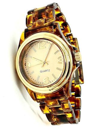 Avon Women's Signature Collection Round Tortoise Brown Set The Tone Wristwatch (F4040151)
