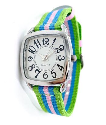 Avon Women's Signature Collection Square Green Multi-Color Wristwatch - F4015851