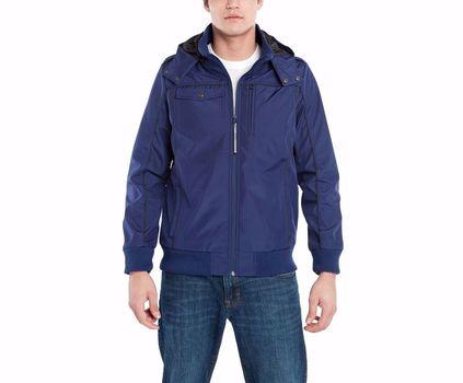 BAUBAX Men's Blue Bomber Jacket - Size Large