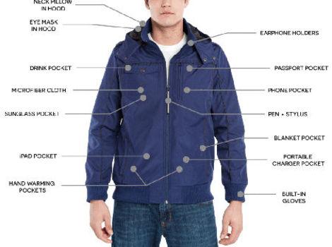 BAUBAX Men's Blue Bomber Jacket - Size Medium