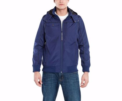 BAUBAX Men's Blue Bomber Jacket - Size Small