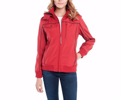 BAUBAX Women's Red Bomber Jacket - Size Large