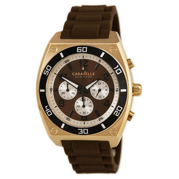 Caravelle New York by Bulova - 45A114 Mens Brown Dial Chronograph Quartz Watch