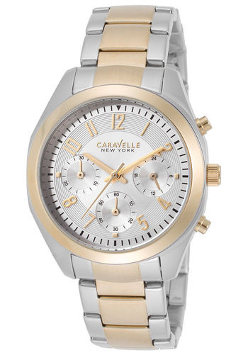 Caravelle New York by Bulova 45L136 Womens Chronograph Stainless Steel Watch