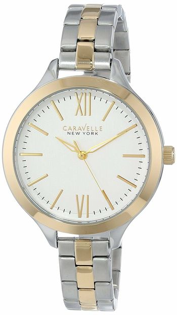 Caravelle New York by Bulova 45L139 Womens Two-Tone Stainless Steel Watch