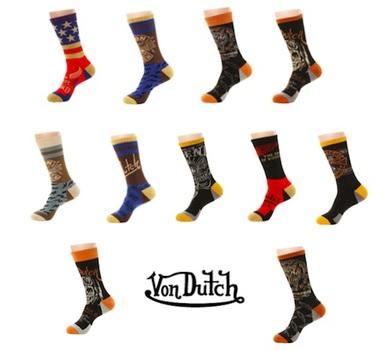 Von Dutch Socks - 6 Pack with 6 Different Designer Styles