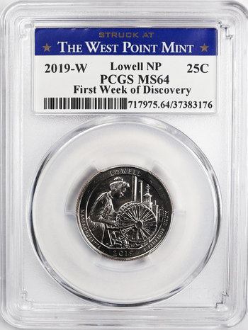 2019-W (Not a Proof) Lowell NP First Week of Discovery PCGS Graded MS64 - West Point Mint Discovery Series Rare