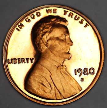 1980-S Proof Deep Cameo Lincoln Memorial Cent