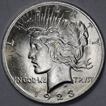 1923 Higher Grade 90% Silver Peace Dollar