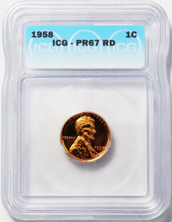 1958 Last Year Wheat Cent - PR67 Red Gem Proof Wheat Cent - ICG Graded