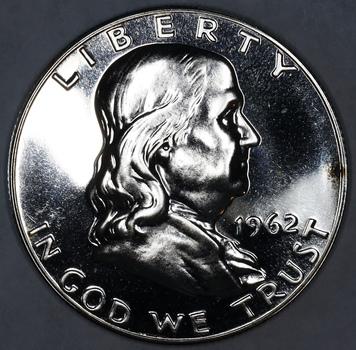 1962 Silver Proof Franklin Half Dollar - High Grade