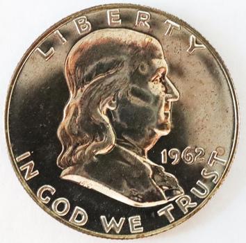 1962 Silver Proof Toning Franklin Half