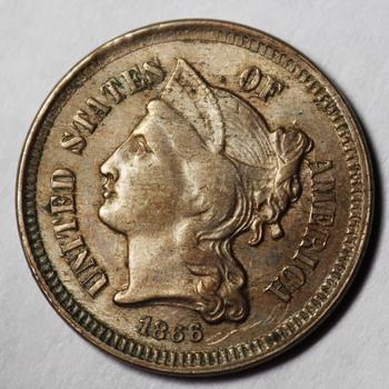 1866 3 Cent Nickel - Beautiful