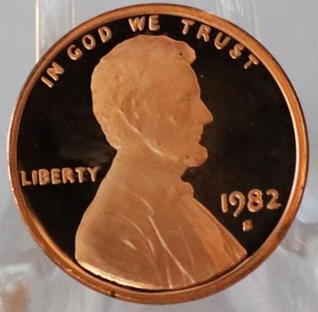 1982-S Gem Proof Deep Cameo Lincoln Memorial Cent