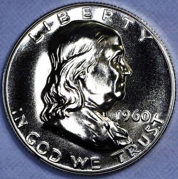 1960 Silver Gem Proof Franklin Half Dollar