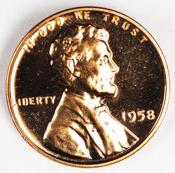 1958 Proof Blazer - Last Year Wheat Cent
