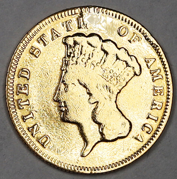 1878 Gold $3 Indian Princess - RARE, Only 82,304 were created!