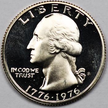 1976-S Silver Gem Proof DEEP CAMEO Commemorative Washington Quarter