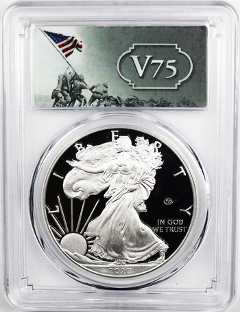 NO RESERVE! 2020-W Privy V75 PCGS First Strike PR69 DCAM Silver Eagle - 75k Minted - Sold Out in 7 Minutes, Last One in Stock!