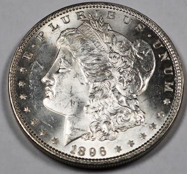 1896 Nealy PL VAM-5, Doubled 18-6 Error Morgan Silver Dollar- Beautiful Piece