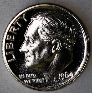 1964 Silver Gem Proof Roosevelt Dime