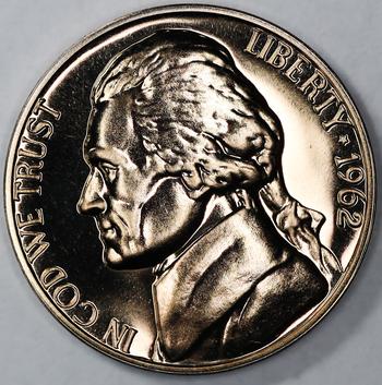 1962 Gem Proof Jefferson Nickel