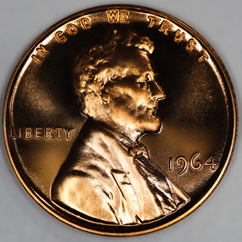 1964 Lincoln Proof Cent - CAMEO
