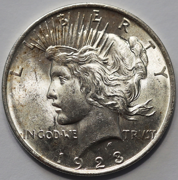 1923 Silver Peace Dollar - Appears to be Very High Grade
