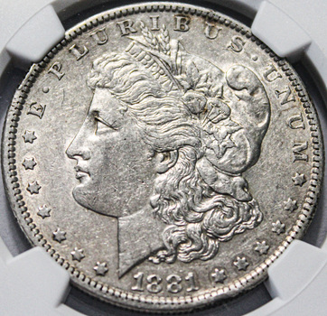 1881-O Morgan Silver Dollar Lower Mintage NGC Graded Details