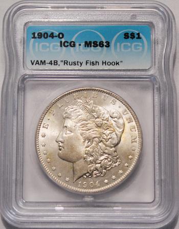 1904-O MS64 'Rusty Fish Hook' VAM-4B Morgan Dollar
