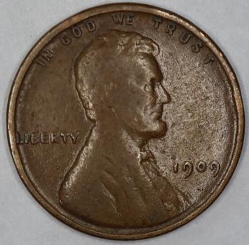 1909 VDB Wheat Cent