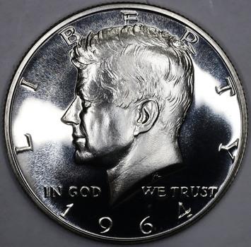 1964 Cameo Proof Silver Kennedy Half Dollar