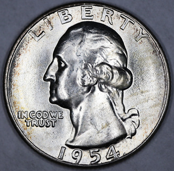 1954 Silver Uncirculated Business Strike Quarter
