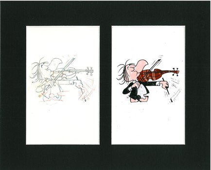 Western Airlines - Original Production Cel/Drawing - 1967